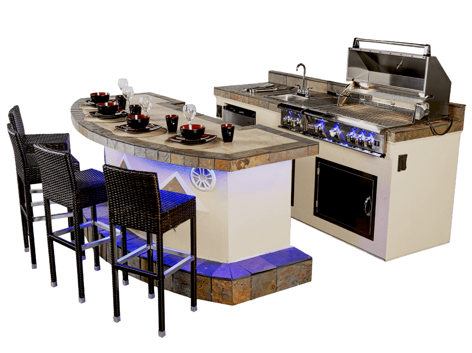 Paradise Grills Flex-Build Outdoor Kitchen in Fort Lauderdale