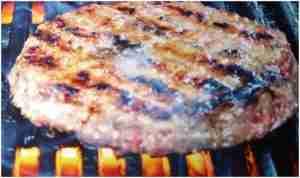 hamburgers on modern low-budget grill - Tampa grill