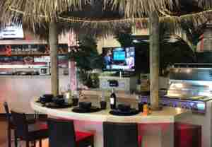 Tahiti Tiki Bar System and Outdoor Kitchen with Paradise GX9 BBQ Grill