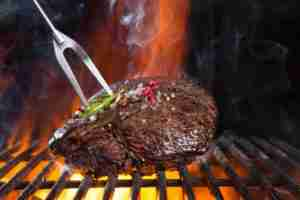 Beef steak on grill - Tampa grill