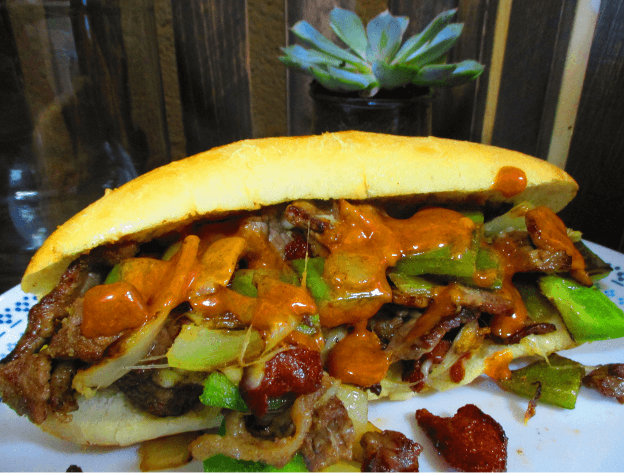 Delicious Cheesesteaks Using Outdoor Kitchen Accessories in Sugar Land