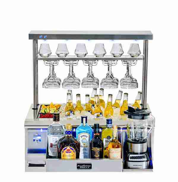 Cocktail Station Full With Led On Towel Rack No Cart