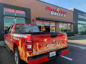 Paradise Grills Fort Myers Red Truck