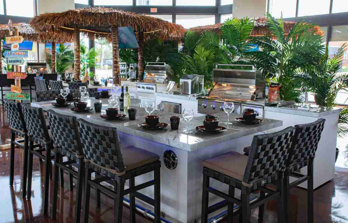 Showroom of Outdoor Kitchens in the woodland Maui