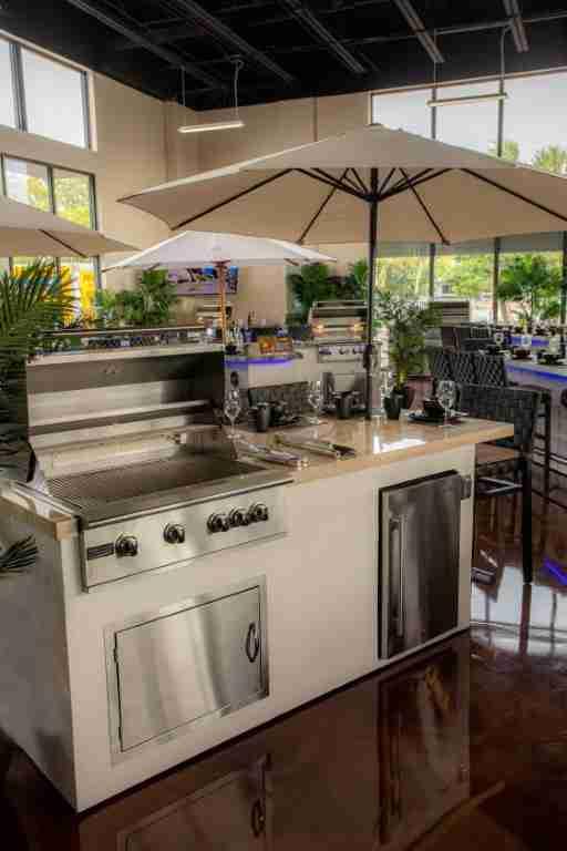 Aruba Flexbuild Outdoor Kitchen at the woodlands showroom