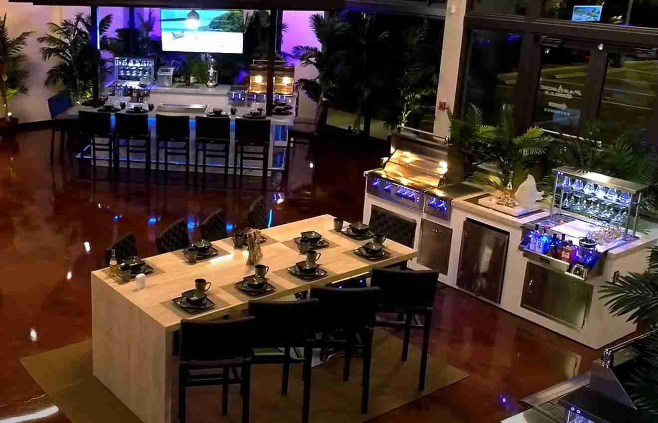 outdoor kitchens in Jacksonville FL showroom